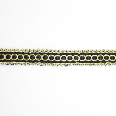 BR0172 ブレード 約10mm幅 ブラック×ゴールド