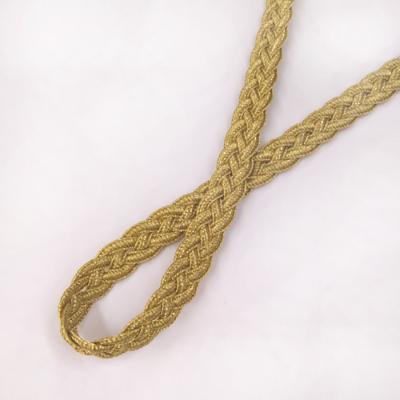 BR0240 ブレード 三つ編み ゴールド 11mm幅 1m単位