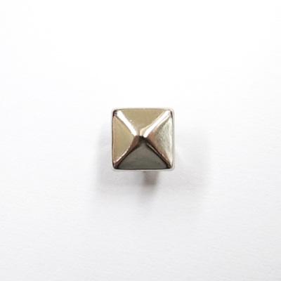 ST0407 スタッズ ピラミッド型 7mm 【10個セット】 シルバー